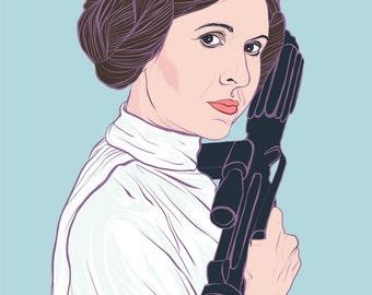 Princess Leia - Star Wars Fine Art Print - Wall Art - Giclee - General Organa - Feminist - Woman -