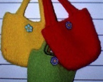 Retro Hand Knit Felt Bag Pattern PDF