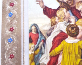 Religious Holy Cards - Set of 2 - Antique Paintings
