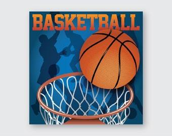 Basketball Wooden Wall Art
