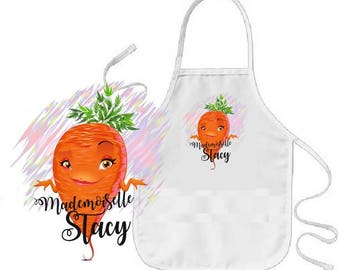 """Carrot"" personalized child apron"