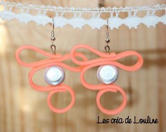 Silicone earrings orange