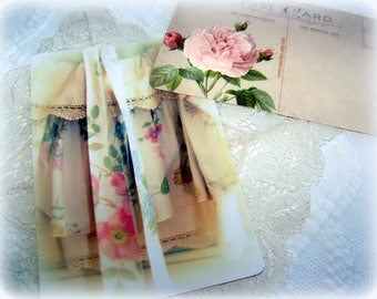 Moms Apron, postcards, rounded corners, feminine and lovely
