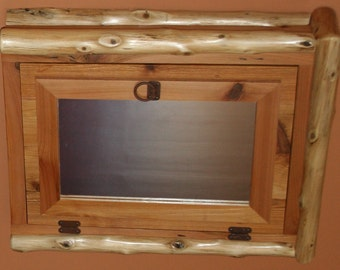 Cedar Log with Reclaimed Wood  Medicine Cabinet