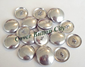 100 Size 36 (7/8 inch) Cover Buttons -  Wire Backs