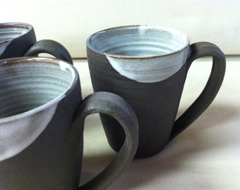 handmade mugs, coffee mugs, shabby chic, rustic, tea, white mugs, chocolate mugs