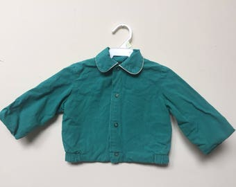 1950s Children Coat / Vintage Blue Coat/ Vintage Toddler Coat / 1940s-1950s Coat for 18mos-2T