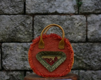 Boho Chic-round bag-orange