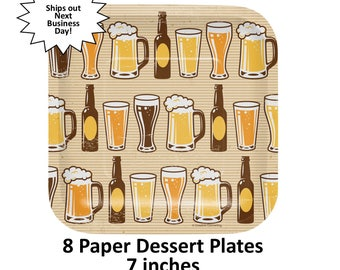 cheers & beers plates, 30 years, 21st birthday, adult party supplies, drinking, decorations, beer mugs, beer bottles, New Years Eve Decor