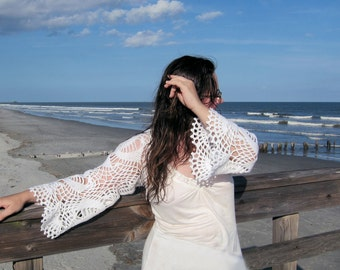 Snow white shrug bolero, crochet bolero, wedding shrug bolero, lace shrug, crochet bolero, white shawl, bridal shrug, stole,  snow white