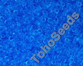 5g Toho Seeds Beads 15/0 Transparent Aquamarine TR-15-3 Rocailles size 15 mini rocailles 1mm aqua blue