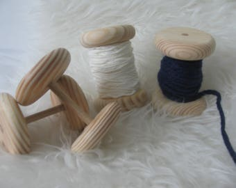entirely handmade wooden spool