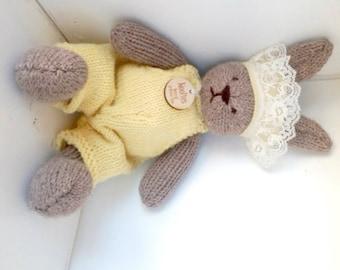 Bunny, Eco Kids Toy, Waldorf Toy Stuffed Animal, Bunny Rabbit . Natural and Eco Friendly, Heirloom Quality