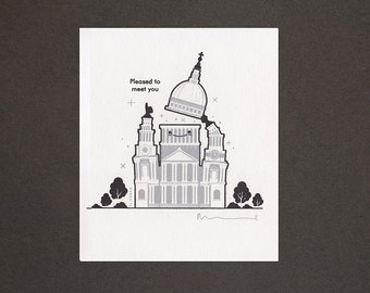 St Pauls – Pleased to Meet You – Gocco Print