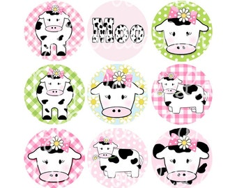 Daisy The Cow Bottlecap Images Bottle Cap Images 1 Inch Circles Bottlecaps Hairbows Jewelry Magnets and More INSTANT DOWNLOAD