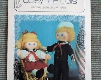 Daisymae dolls pattern, Skipper & Kate, soft dolls, sailor dolls, Vintage