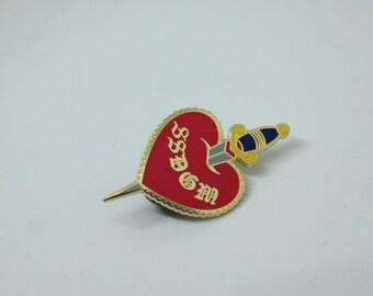 SSDGM Heart Hard Enamel Pin