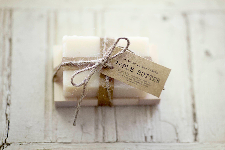 APPLE BUTTER Soap |Apple, Clove, Cinnamon Soap Bar, Moisturizing ...
