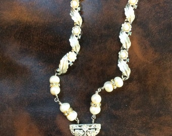 Vintage Dress Clip Assemblage Necklace