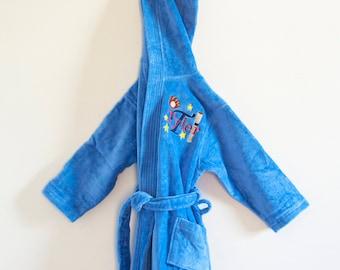 Boys Bathrobe/Teen Robe/Toddler Robe/Hooded Bathrobe/Personalized Robe/ Hockey-Basketball-Soccer-Sports Bathrobe