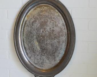 Oval Silver Tray, Oval Platter, Oval Silver Platter, Oval Serving Tray, Holiday Silver, Hotel Silver, International Silver Tray