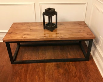 Faux Metal Farmhouse coffee table