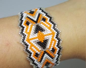 Orange Cuff Bracelet