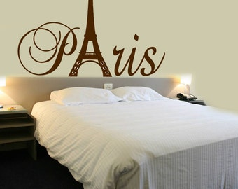 Paris Tour Eiffel Tower SMALL Wall Decal Custom Size and Color