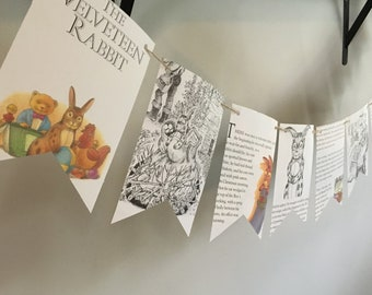 THE VELVETEEN RABBIT story book page banner decoration