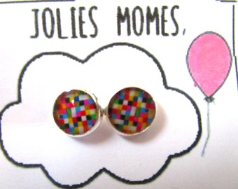 KIDS COLORFUL EARRINGS - Kids Stud Earrings - Girls Earrings - Earrings for Children - Gift for Girls - Child Jewelry