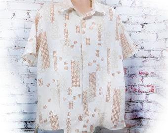 Linen Shirt Men - Linen short Sleeve shirt -Button Up Shirt, short sleeve shirt, button down shirt ,Men's casual shirt ,size XX L -# 100