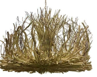 The Countess -Handmade- Honeysuckle - Vine Light - Rustic Chandelier - 5 +1 Light with Down Light - Tree Branch Chandelier