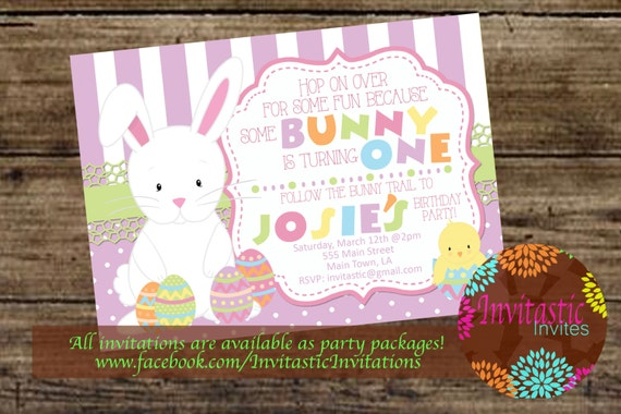 Easter birthday invitation easter some bunny themed birthday filmwisefo