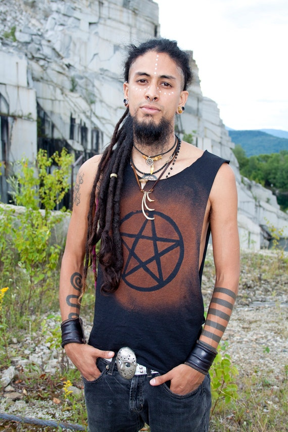 Post Apocalyptic Destroyed Men's Pentagram Pentacle Shirt Tank cws6l