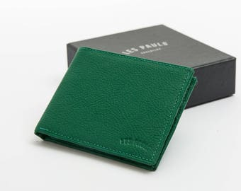 Leather Wallet / Green & Light Green