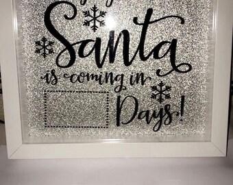 Santa countdown box frame with pen