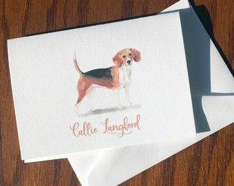 Border Collie Personalized Stationery, great gift for dog lovers, Border Collie stationery set Cotton Savoy, custom gifts for dog lovers