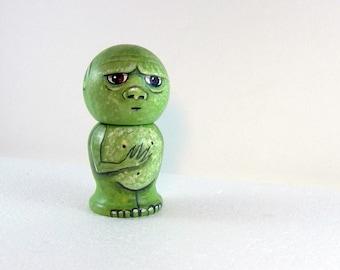 Goblin Kokeshi Doll -Wooden Handpainted