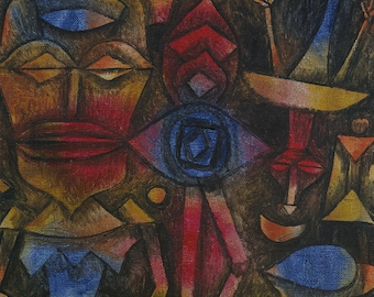 """Paul Klee : """"Collection of Figurines"""" (1926) - Giclee Fine Art Print"""