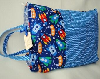 Child's Pillowcase-Travel Pillowcase-Pocket Pillow-Small Pillow-Car Pillow-Space-Rocket-Child Pillow-Boy Pillow-Sleepover Gift-Road Trip