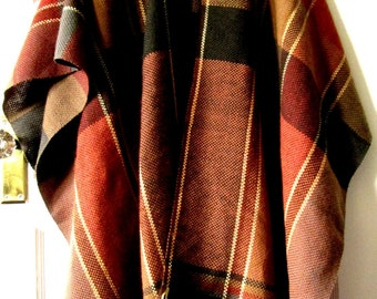 Wool Poncho, Wrap, Cape