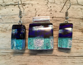 Glass jewelry, handmade, glass, Dichroic glass, dichroic glass jewelry, dichroic glass, fused glass, handmade fused glass, glass jewelry