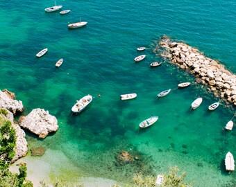 Italy Photography, Summer in Positano, Amalfi Coast, Italy, beach photography,Italian home decor, Positano Art, bedroom art, green water