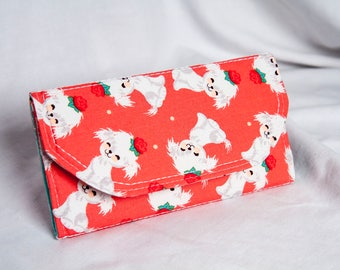 Women's Puppy Trifold Wallet