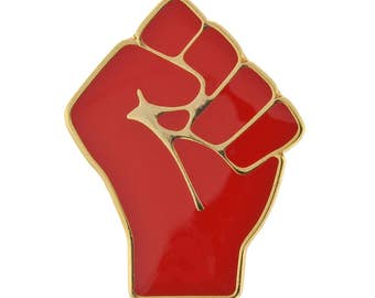 Red Raised Fist of Solidarity