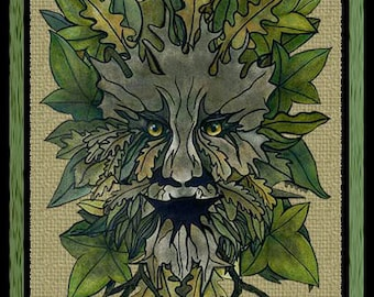 PSP Tube - The Green Man by Fearneve, Pagan, Nature, Druid
