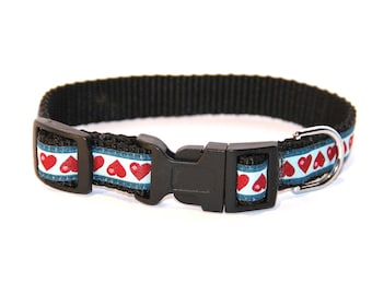 """Collar for small dog or cat 'Hearts"""""""
