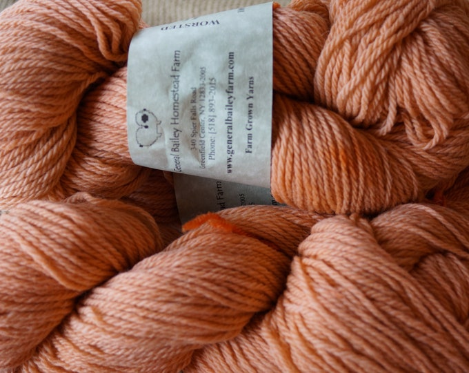 ADOBE 3 ply worsted weight wool yarn from our American farm