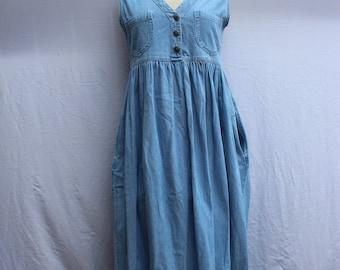 retro/vintage Sostanza sleeveless denim dress