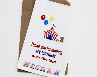 Circus Birthday Favor Bags, Candy Favor Bags, Candy Buffet Bags, Birthday Treat Bags, Bags For Candy